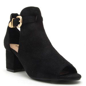 Faux Suede Ankle Bootie Size 10